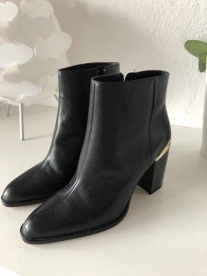 Zara Booties black-gold-colored
