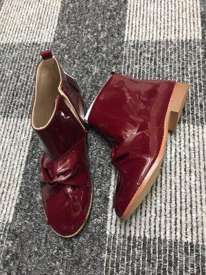 Zara Bottes d'hiver rouge carmin-bordeau