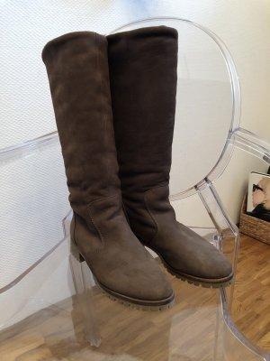 ZARA Stiefel aus Wildleder