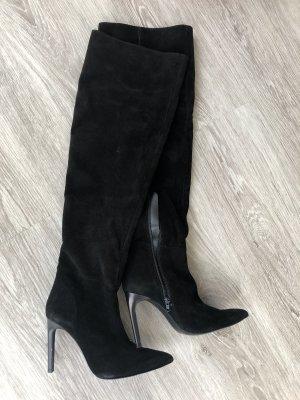 Zara Botas de tacón alto negro