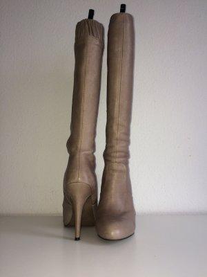 Zara Stiefel beige Gr. 40 echt Leder