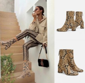 Zara Stiefel Blogger Snack Boots