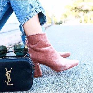 Zara Stiefel Boot Pink Velvet