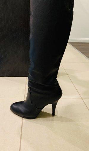 Zara High Heel Boots black leather