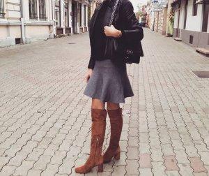 Zara Kniehoge laarzen bruin