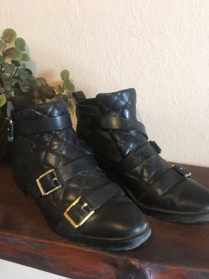 Zara Botas de invierno negro-color oro