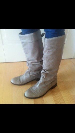 Zara Stiefel Gr 40 grau/taupe