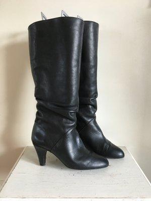 Zara Bottes à talon noir cuir