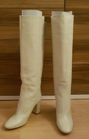 Zara Stiefel mit Blockabsatz cremeweiß Gr. 39