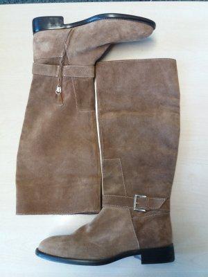 Zara Basic High Boots camel
