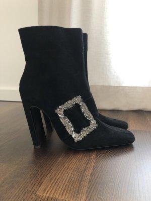 Zara Stiefelette gr. 40 schwarz schnalle