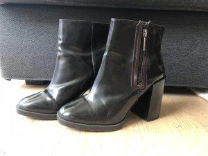 Zara Bottines noir faux cuir
