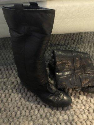 Zara Slappe laarzen zwart