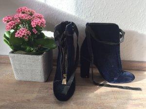 Zara Bottes à bout ouvert bleu