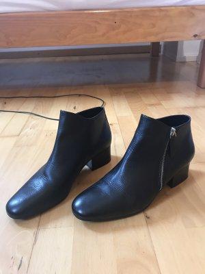 Zara Stiefeletten Ankleboots schwarz Leder