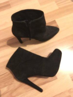 Zara Bottines à plateforme noir daim