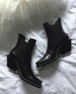 Zara Bottines noir-blanc cassé