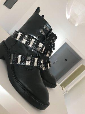Zara Aanrijglaarsjes zwart-zilver
