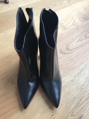 Zara Zipper Booties black