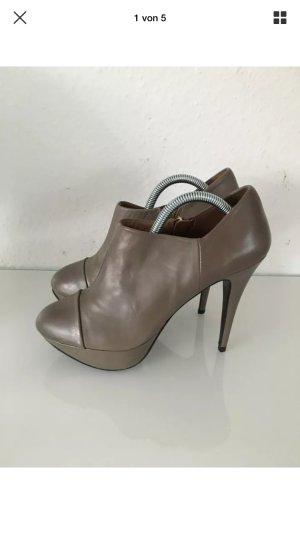 Zara Botas con cremallera gris
