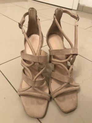 ZARA STILETTOS high heels beige größe 38