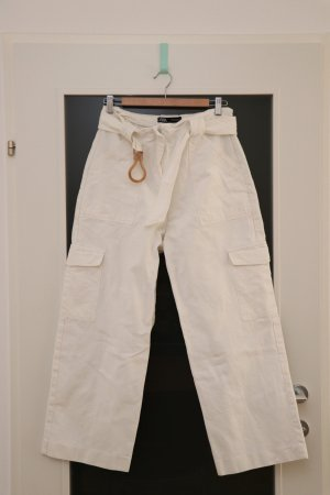 Zara Pantalone jersey crema