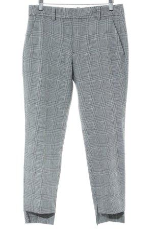 Zara Stoffen broek zwart-wit geruite print zakelijke stijl