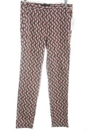 Zara Stoffhose abstraktes Muster klassischer Stil