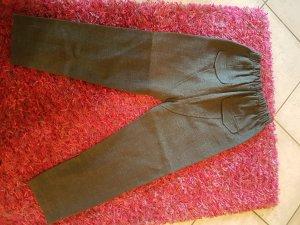 Zara Pantalón de cintura alta gris