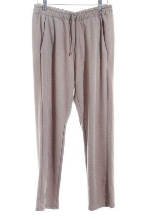 Zara Stoffen broek beige gestippeld casual uitstraling