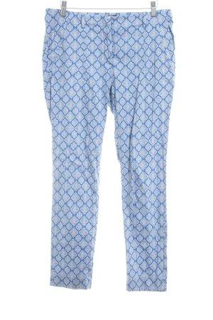 Zara Stoffhose blau-weiß abstraktes Muster Casual-Look
