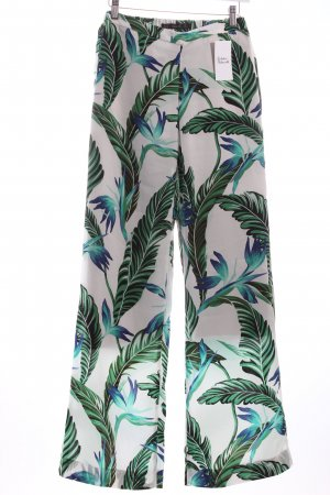 Zara Stoffhose florales Muster extravaganter Stil