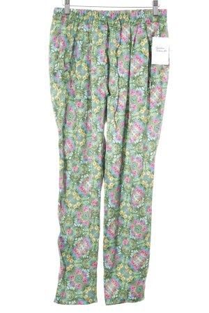 Zara Pantalon en jersey motif floral style bohème