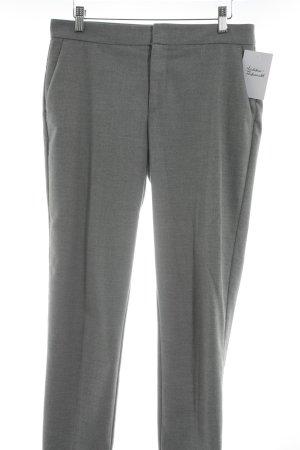 Zara Pantalone jersey grigio chiaro puntinato stile professionale