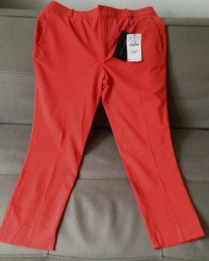 Zara Pantalon en jersey rouge clair-saumon