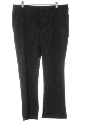 Zara Stoffhose schwarz-hellgrau Nadelstreifen klassischer Stil