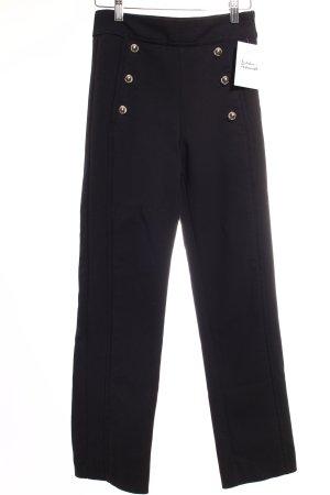 Zara Stoffhose schwarz-silberfarben Elegant