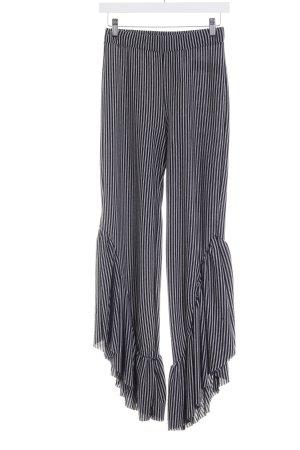 Zara Stoffhose schwarz-weiß Casual-Look