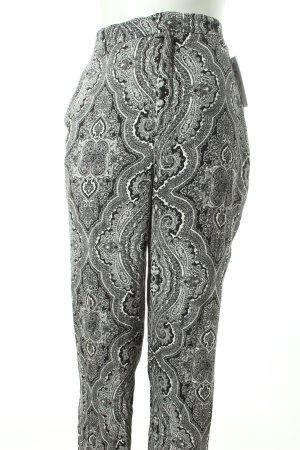 Zara Pantalon en jersey noir-blanc style hippie