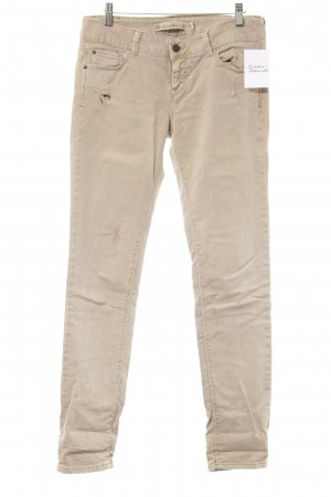 Zara Straight-Leg Jeans camel Used-Optik