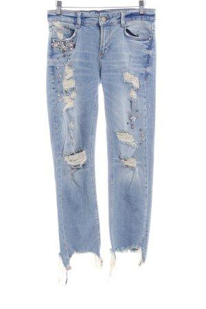 Zara Straight-Leg Jeans mehrfarbig Elegant