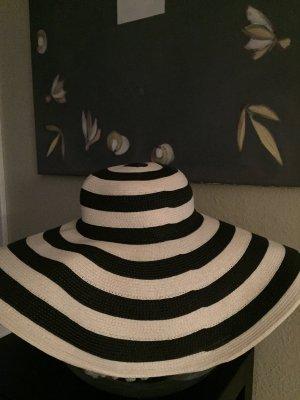 Zara Strandhut Schwarz Weiß