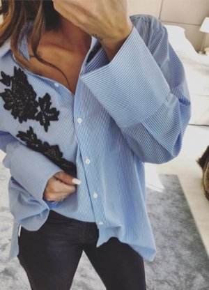 zara Streifen oversized hemd