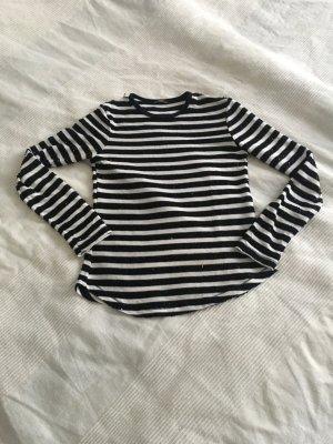 Zara Streifen Pailletten Pullover