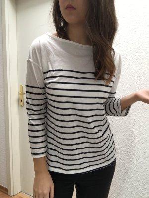 Zara Streifen Shirt U-Boot Ausschnitt