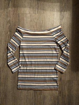 Zara Streifen Shirt Uboot Ausschnitt Gr. S gerippt neuwertig