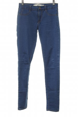 Zara Stretch Jeans blau-dunkelblau Casual-Look
