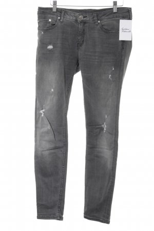 Zara Stretch Jeans grau Washed-Optik