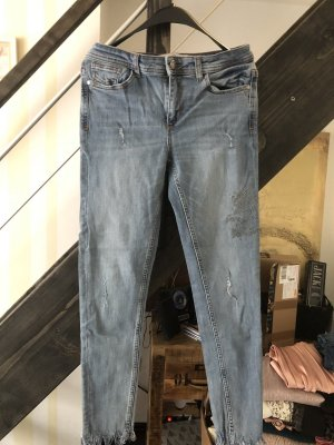 Zara Stretch Jeans neu mit Strass 38