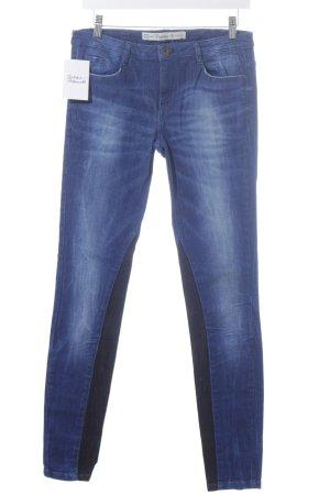 Zara Jeans elasticizzati blu acciaio-nero stile casual